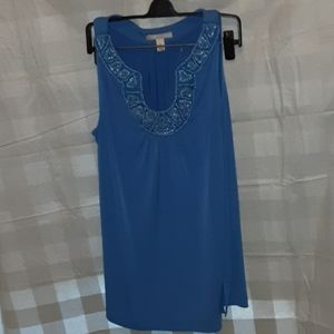 Dana Buchman Beaded Top size Small